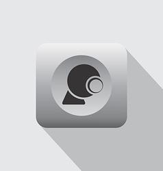 Internet webcam icon vector