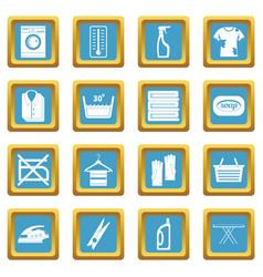 laundry icons azure vector image