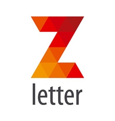 Logo abstract letter z of colored elements vector