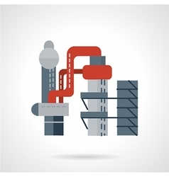 Metallurgical works flat icon vector
