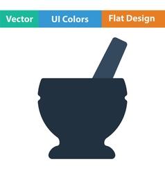 Mortar and pestle icon vector