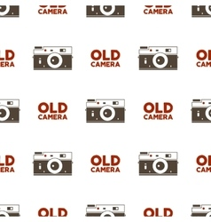Old camera seamless pattern vintage photography vector