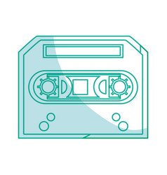 Old music casette vector