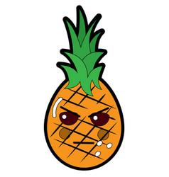 Pinapple happy bliss fruit kawaii icon image vector