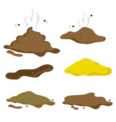 poop fecal cartoon vector image