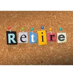 Retire concept vector