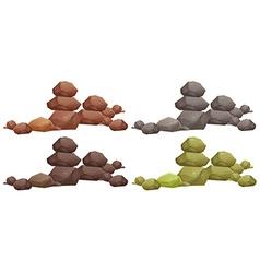 Rock piles vector image