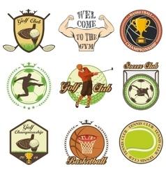 Set of vintage sports emblems vector