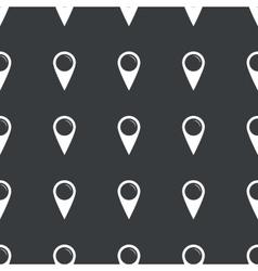 Straight black map marker pattern vector