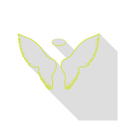 Wings sign pear icon with flat style vector