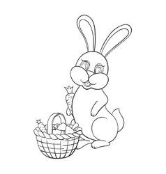With rabbit vector