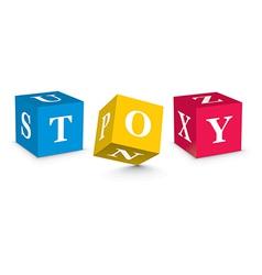 Word toy written with alphabet blocks vector