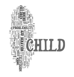 Your child has add text word cloud concept vector