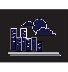 night city symbol vector image