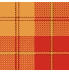 Autumn warm color plaid seamless pattern vector