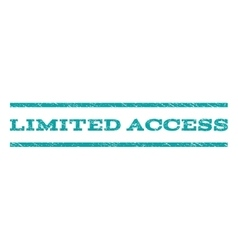 Limited access watermark stamp vector