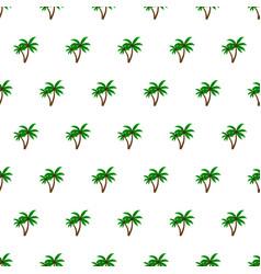 Seamless pattern summer beach palm tree vector