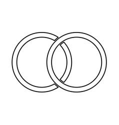 Wedding rings black color icon vector