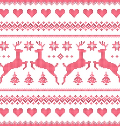 Winter christmas red seamless pixelated pattern vector