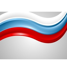 Wavy russian colors background flag design vector