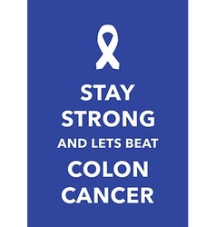 Colon cancer poster vector