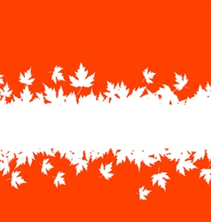 autumn falling leaves vector image
