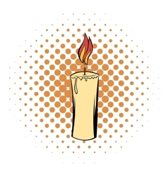 Candle comics icon vector