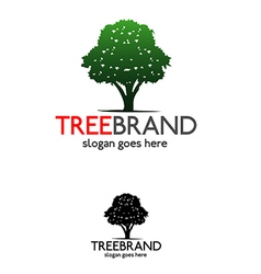 Tree brand logo vector