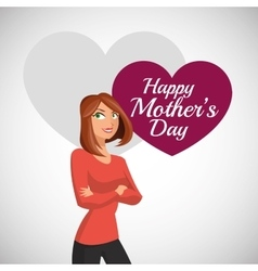 Happy mothers design white background vector