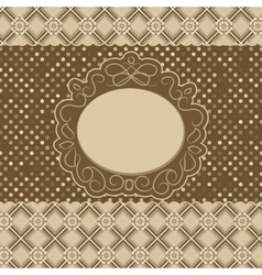 Vintage pattern card vector