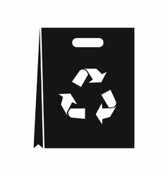 Package recycling icon simple style vector