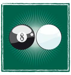 black and white billiard ball vector image