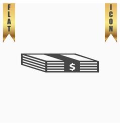 Bundle of dollars icon vector