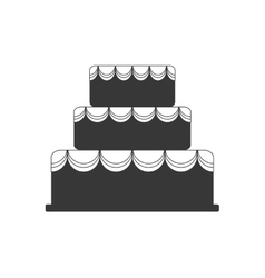 Cake dessert cute sweet icon graphic vector