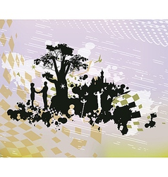 Castle Romance Fantasy Concept vector image