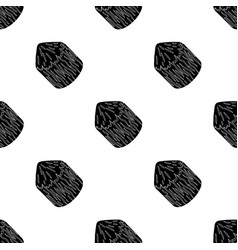 Conical log canada single icon in black style vector