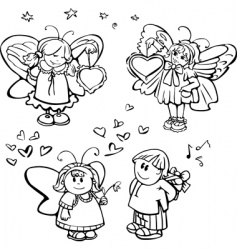 cute angels vector image