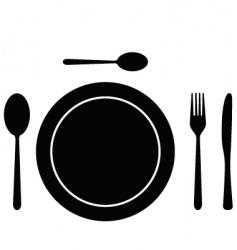 cutlery dish vector image