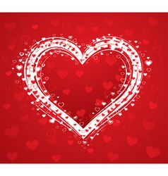 decorative love heart vector image vector image