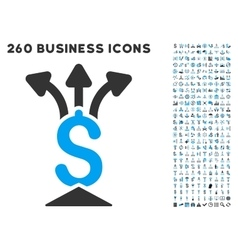 Financial aggregator icon with flat set vector