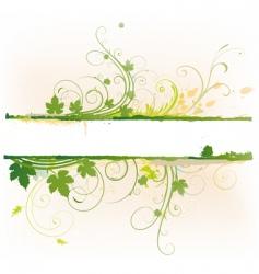 Floral decorative banner vector