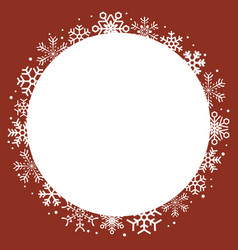 frame snowflake vector image vector image