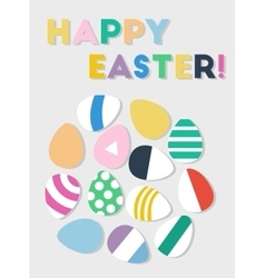 Happy Easter eggs postcard vector image
