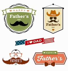 Happy fathers day colorful labels logo vector