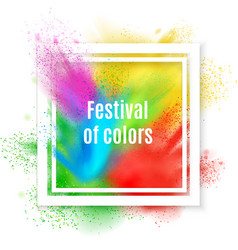 Holi paint frame background vector