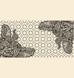 Lace card horizontal sample invitation template vector