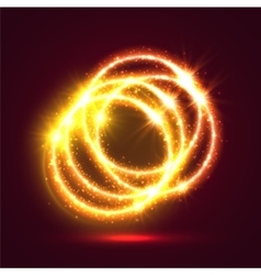 Light illuminated fire rings background vector image vector image