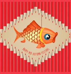 mid autumn lantern festival pencils background vector image vector image