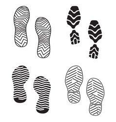 New foot print set resize vector image vector image