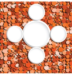 Orange bubbles copyspace vector